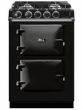 "ATC2DFBLK AGA 24"" Freestanding Dual Fuel Range with 4 Sealed Burners and 4.9 cu . ft Oven Capacity - Black"