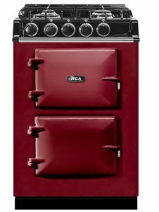 """ATC2DFCLT AGA 24"""" Freestanding Dual Fuel Range with 4 Sealed Burners and 4.9 cu . ft Oven Capacity - Claret"""