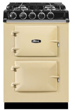 """ATC2DFCRM Aga 24"""" Freestanding Dual Fuel Range with 4 Sealed Burners and 4.9 cu . ft Oven Capacity - Cream"""