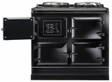 ATC3BLK AGA Total Control 3 Electric Range Cooker with Cast Iron Radiant Heat Oven - Black