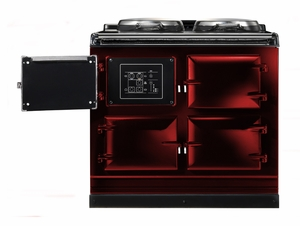 ATC3CLT AGA Total Control 3 Electric Range Cooker with Cast Iron Radiant Heat Oven - Claret