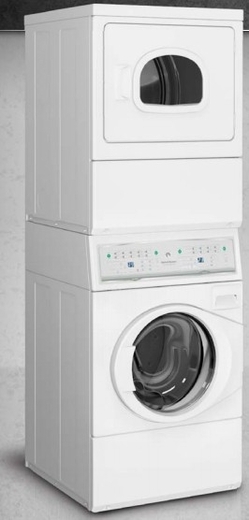 ATGE9AGP173TW01 Speed Queen 3.42 Cu. Ft. Stacked Washer/Gas Dryer Combo - White