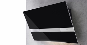 """AWAM90ABX Zephyr Arc Collection 36"""" Wave Designer Wall Hood - Black with Stainless Steel"""