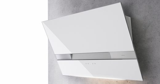 """AWAM90AWX Zephyr Arc Collection 36"""" Wave Designer Wall Hood  - White with Stainless Steel"""