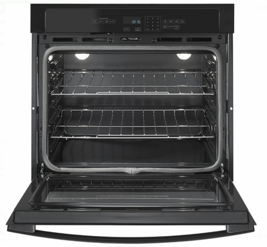 """AWO6313SFB Amana 30"""" Electric Wall Oven with 5.0 cu. ft. Capacity and Incandescent Lighting - Black"""