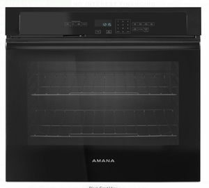 """AWO6317SFB Amana 27"""" Electric Wall Oven with 4.3 cu. ft. Capacity and Incandescent Lighting - Black"""