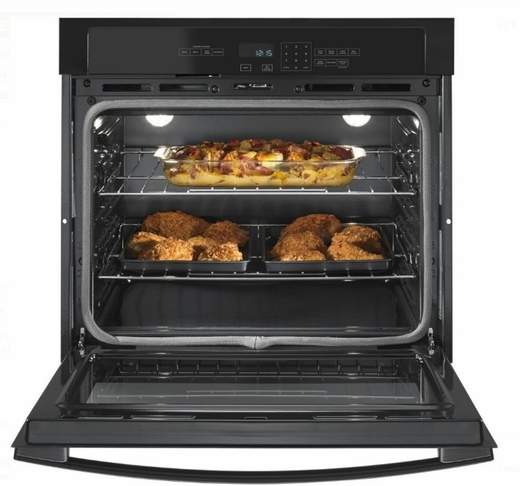"AWO6317SFB Amana 27"" Electric Wall Oven with 4.3 cu. ft. Capacity and Incandescent Lighting - Black"