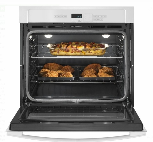 "AWO6317SFW Amana 27"" Electric Wall Oven with 4.3 cu. ft. Capacity and Incandescent Lighting - White"