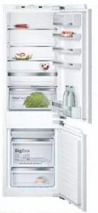 """B09IB80NSP Bosch 800 Series 24"""" Built-In Bottom Freezer Refrigerator with SuperCooling and SuperFreezing - Custom Panel"""