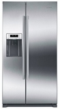 "B20CS30SNS Bosch 36"" 300 Series Counter Depth Side by Side Refrigerator with LED Lighting and MultiAirFlow System - Anti Fingerprint Stainless Steel"