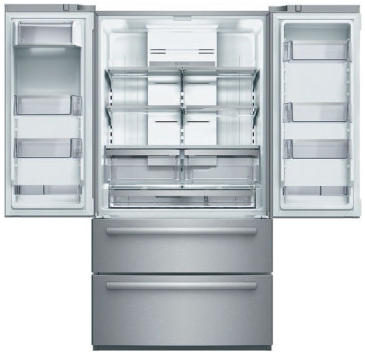 """B21CL80SNS Bosch 36"""" Counter Depth 4-Door Refrigerator with a Dual AirCool System and 4 Adjustable Glass Shelves - Stainless Steel"""