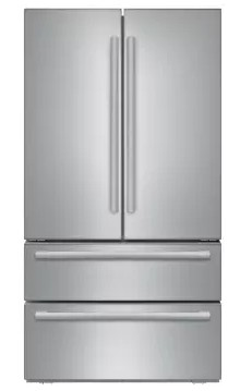 "B21CL81SNS Bosch 36"" 800 Series Counter Depth French Door 20.7 Cu Ft. Refrigerator with Supercool and SuperFreeze - Stainless Steel"