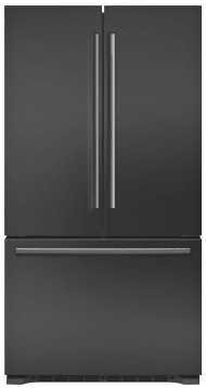 "B21CT80SNB Bosch 36"" 800 Series 20.7 cu ft Capacity Counter Depth 3 Door French Door Refrigerator with Full Width Chiller Drawer and Dual AirCool System -  Black Stainless Steel"
