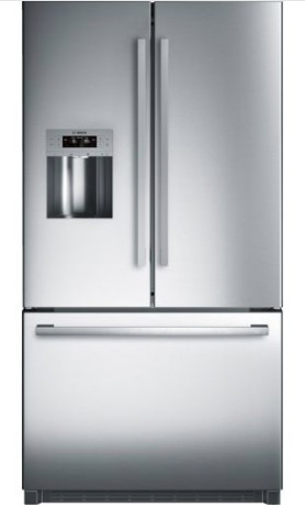 "B26FT50SNS Bosch 36"" 800 Series French Door 25.0 Cu Ft. Refrigerator with VitaFresh and MultiAirFlow System - Stainless Steel"