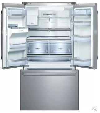 """B26FT70SNS Bosch 36"""" 800 Series French Door 25.9 Cu Ft. Refrigerator with Gallon Door Storage and SuperFreeze - Stainless Steel"""