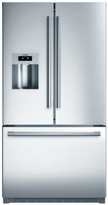 "B26FT80SNS Bosch 36"" 800 Series French Door 25.9 Cu Ft. Refrigerator with VitaFresh, MultiAirFlow & Ice/Water Dispenser - Stainless Steel"