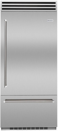 """BBB36SSL2 Blue Star 36"""" Built-In Left Hinge Refrigerator with Ramp-On LED Lighting and Dual Compressors - Stainless Steel"""