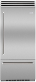 "BBB36SSL2 Blue Star 36"" Built-In Left Hinge Refrigerator with Ramp-On LED Lighting and Dual Compressors - Stainless Steel"