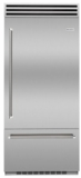"BBB36SSR2 Blue Star 36"" Built-In Right Hinge Refrigerator with Ramp-On LED Lighting and Dual Compressors - Stainless Steel"