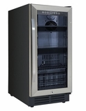 "BCA3115S3S Avanti 15"" Deluxe Beverage Center with Reversible Glass Door with Security Lock and Security Lock - Stainless Steel"