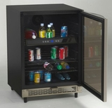 "BCA5448 Avanti 24"" Beverage Cooler with Reversible Glass Door - Stainless Steel"
