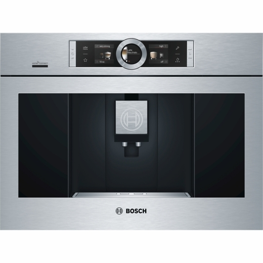 "BCM8450UC 24"" Bosch Built-In Coffee Machine with Remote Start and Child-proof Lock - Stainless Steel"