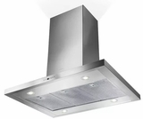 "BELAIS36SS600B Faber 36"" Bella Collection Island Range Hood with Electronic Controls and 600 CFM - Stainless Steel"