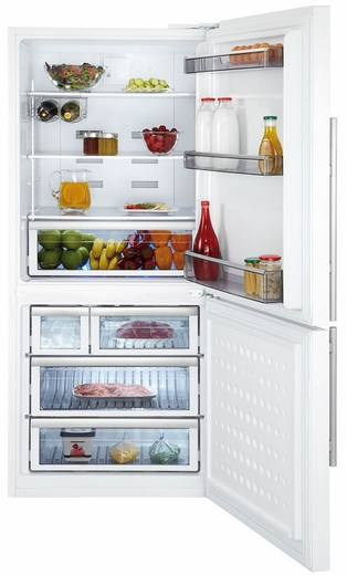 "BFFB1822WH Blomberg 30"" Bottom Freezer 17.8 Cu. Ft.  Refrigerator With LED Lighting - White"