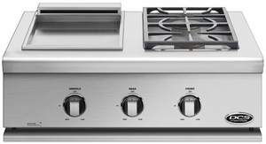 """BFGC30BGDL DCS 30"""" Liberty Griddle / Sideburner for Built-in or On-Cart Applications - LP Gas - Stainless Steel"""