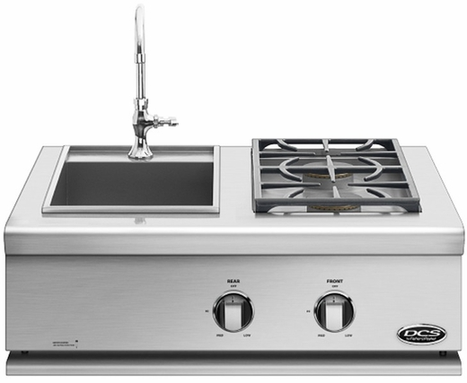 BFGC30BSN DCS Liberty Sink / Sideburner for Built-in or On-Cart Applications - Natural Gas - Stainless Steel