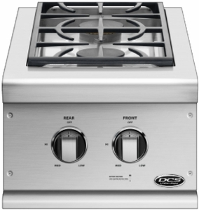BGC132BIN DCS Double Built-in Sideburners - Natural Gas - Stainless Steel