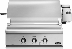 "BGC30BQRL DCS Traditional 30"" All Grill for Built-in or On-Cart Applications with Rostisserie - LP Gas - Stainless Steel"
