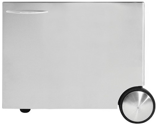 """BGC30CSS DCS 30"""" CSS Rolling Grill Cart for Traditional 30"""" Grills - Sideburner Compatible - Stainless Steel"""