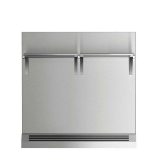 """BGRV23030H 30"""" DCS Range Backguard with Combustible Wall - Stainless Steel"""