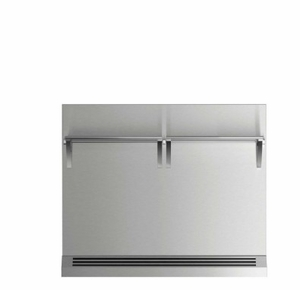 "BGRV23036H Fisher & Paykel 36"" Range Backguard with Combustible Wall - Stainless Steel"