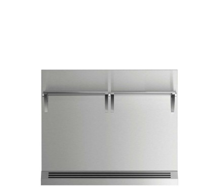 """BGRV23036H 36"""" DCS Range Backguard with Combustible Wall - Stainless Steel"""
