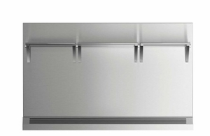 """BGRV23048H Fisher & Paykel 48"""" Range Backguard with Combustible Wall - Stainless Steel"""