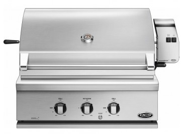 """BH130RL DCS 30"""" Built-In Grill with Rotisserie with Full Surface Searing - LP Gas - Stainless Steel"""