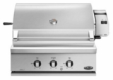"BH130RN DCS 30"" Traditional Grill with Rotisserie and Full Surface Searing - Natural Gas - Stainless Steel"