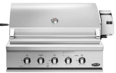 "BH136RGIL 36"" Traditional Grill With Rotisserie Griddle And Hybrid IR Burner - LP Gas - Stainless Steel"