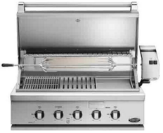"""BH136RGIN DCS 36"""" Traditional Grill With Rotisserie Griddle and Hybrid IR Burner - Natural Gas - Stainless Steel"""