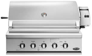 """BH136RL DCS 36"""" Traditional Grill with Rotisserie and Ceramic Radiant Technology - LP Gas - Stainless Steel"""