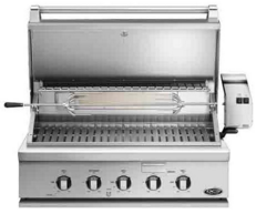 """BH136RN DCS 36"""" Traditional Grill with Rotisserie and Ceramic Radiant Technology - Natural Gas - Stainless Steel"""