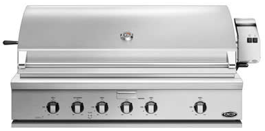 """BH148RGIL DCS 48"""" Traditional Grill with Rotisserie Griddle and Hybrid IR Burner - LP Gas - Stainless Steel"""