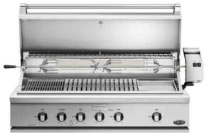 """BH148RGIN DCS 48"""" Traditional Grill With Rotisserie Griddle and Hybrid IR Burner - Natural Gas - Stainless Steel"""