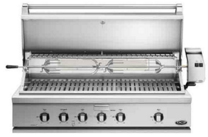 """BH148RL DCS 48"""" Traditional Grill with Rotisserie and Ceramic Radiant Technology - LP Gas - Stainless Steel"""