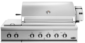 """BH148RSL DCS 48"""" Traditional Grill With Rotisserie and Side Burners with Ceramic Radiant Technology - LP Gas - Stainless Steel"""