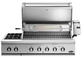 """BH148RSN DCS 48"""" Traditional Grill With Rotisserie and Side Burners with Ceramic Radiant Technology - Stainles Steel"""