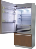 "BI36BILO Fhiaba Brilliance Series 36"" Bottom Freezer Drawer Refrigerator with TriPro & TriMode - Left Hinge - Custom Panel"