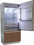 "BI36BIRO Fhiaba Brilliance Series 36"" Bottom Freezer Drawer Refrigerator with TriPro & TriMode - Right Hinge - Custom Panel"